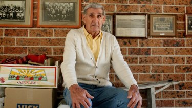 Joe Marston at 80 years old in 2006. The Leichhardt boy went on to be idolised in England for his feats with Preston North End.