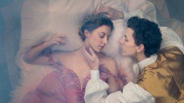 The prince (Kevin Jackson) seeks to win the love of sleeping Aurora (Lana Jones) in <i>The Sleeping Beauty</i>.