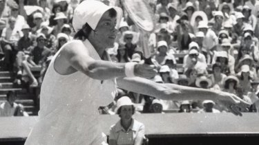 Margaret Court during the 1972 Australian Open Championships.