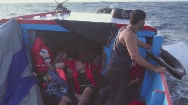 A scene from Eva Orner's documentary <i>Chasing Asylum</i>.