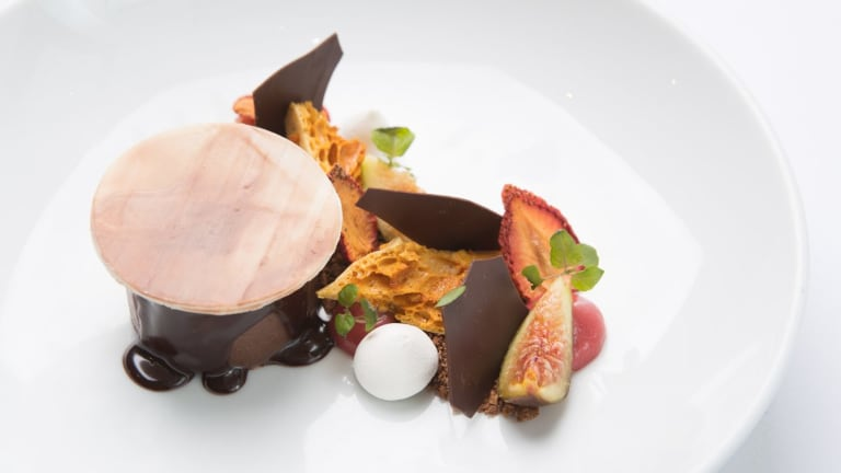 Go-to dessert: the budino di cioccolato might be served with fresh fig.