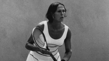 Trailblazing transgender tennis player Renee Richards, in the 1970s.