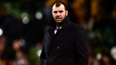 Frustrated: Michael Cheika.