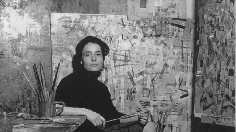 Yvonne Audette in Florence in the 1950s.