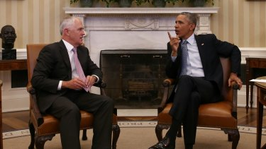 Prime Minister Malcolm Turnbull meets with President of the United States Barack Obama in the Oval office of the White House earlier this year.