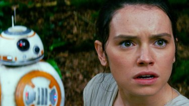 Top seller on DVD last year ... Daisy Ridley in <i>Star Wars: The Force Awakens</i>.