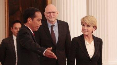 Australian Foreign Minister Julie Bishop meets Indonesia's President Joko Widodo this week.