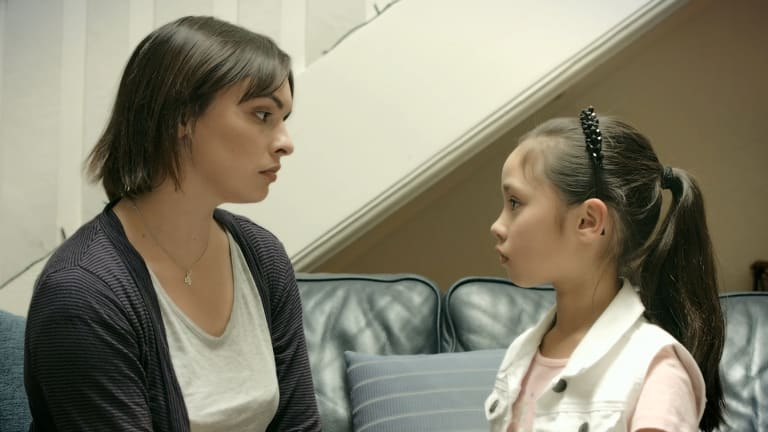 The eSafety Commission has created videos to teach domestic violence victims how to protect themselves from their abusers using technology to harass them. Here actors are playing a mother and her daughter.