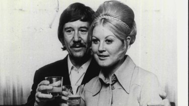 Reg Grundy and wife Joy, soon after marriage.