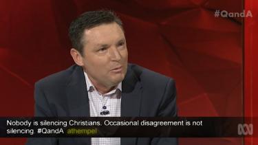 Australian Christian Lobby leader Lyle Shelton on Q&A.