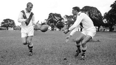 St George stars Reg Gasnier and Johnny Raper in 1961