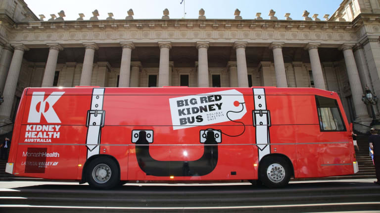 The Big Red Kidney Bus.