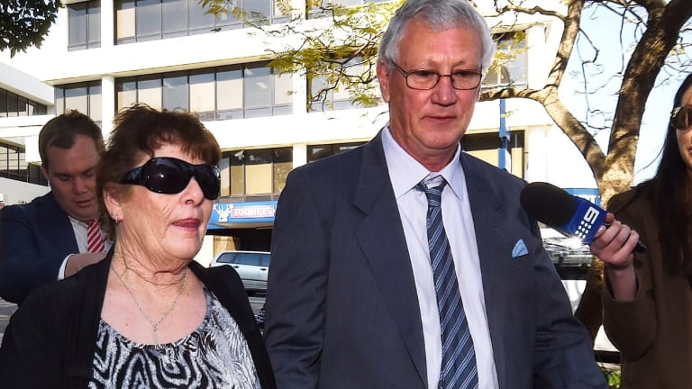 William Spedding (centre) with his wife Margaret Spedding (left) in Campbelltown.
