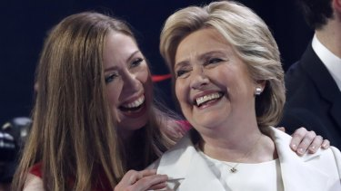 "Hillary Clinton, with her daughter Chelsea, says ""no one gets through life alone""."