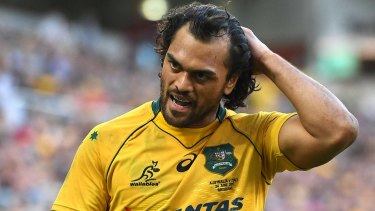 Troubled times: Karmichael Hunt has been arrested and charged with two counts of drug possession.