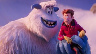 Smallfoot. Migo, voiced by Channing Tatum, and Percy, voiced by James Corden.