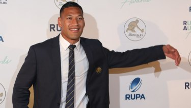Australia's best: Israel Folau has won the John Eales Medal for a third time.