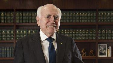 Former prime minister John Howard in his Sydney office.