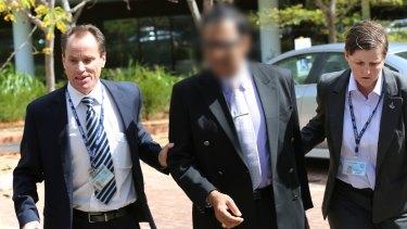 Coca-Cola executive Bryan Pereira at his arrest in 2015.