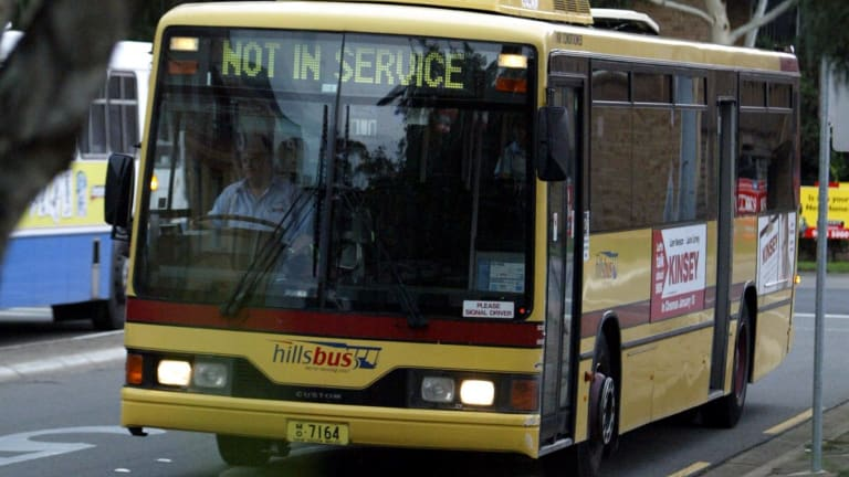 A private Hillsbus caught on fire on Friday.