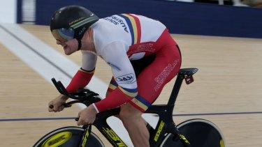 Blue ribband: South Australian cyclist Matthew Glaetzer was a commanding winner of the men's sprint over Jacob Schmid.