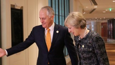 Australian Prime Minister Malcolm Turnbull met with his British counterpart Theresa May in Hangzhou on the sidelines of the G20.
