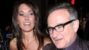 """Robin Williams's widow Susan said her husband was """"drowning in his symptoms""""."""
