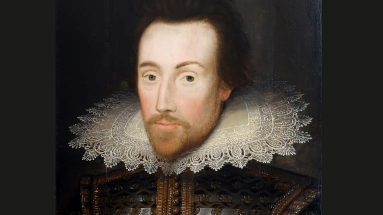 The play's the thing: A painting of the Bard.
