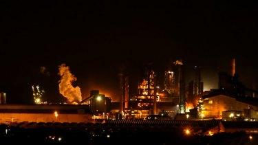 Port Kembla's BlueScope Steel plant.