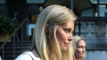 Kelly Landry arrives at the Downing Centre Local Court in Sydney this month.
