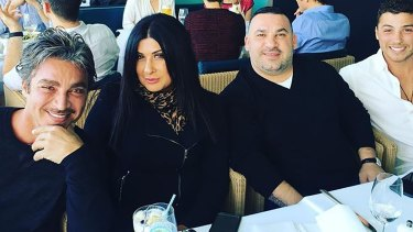 John Ibrahim's business partner Margaret Staltaro, Mick Ibrahim and Daniel Ibrahim.