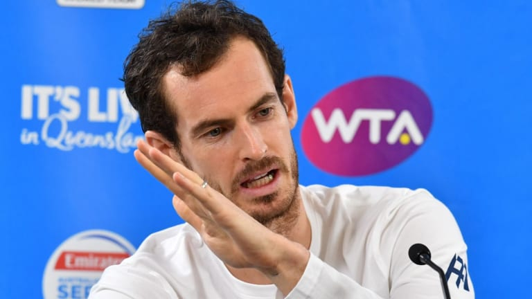 'My expectations aren't massively high just now': Andy Murray talks to the media in Brisbane, where the former No.1 is set to play in the second round of the Brisbane International.