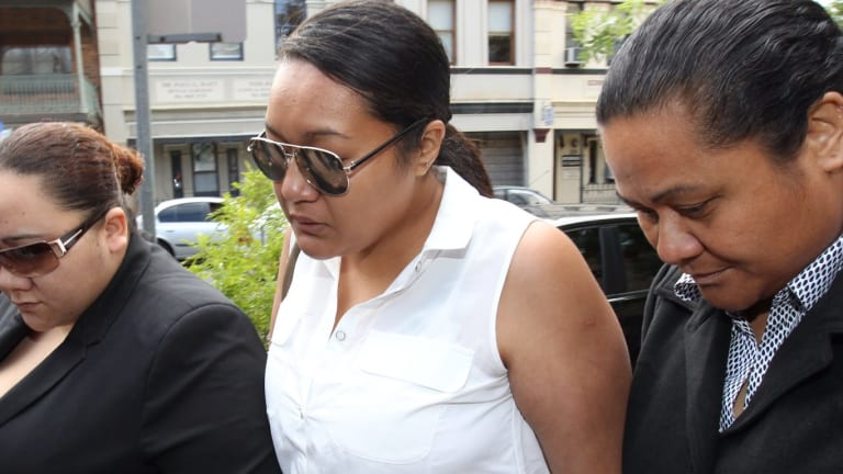 String of offences: Puipuimaota Galuvao (centre) arrives at Kogarah Local Court on Tuesday to face charges relating to the death of Aneri Patel.