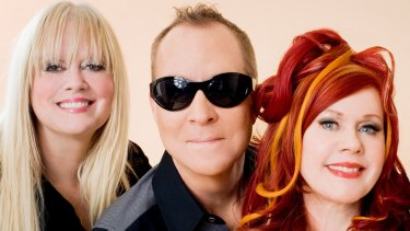 Kitsch classics: (from left) Cindy Wilson, Fred Schneider and Kate Pierson.