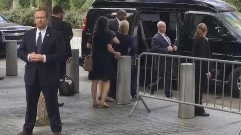 The internet went wild with imagery of Hillary Clinton's stumble.