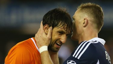 Lucky: Thomas Broich and Besart Berisha could have been forced out of Australia if subjected to new visa laws .