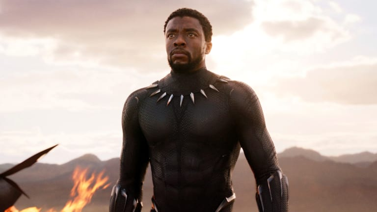 Chadwick Boseman in  <i>Black Panther</i>. Some of the film's PDV work was done in Melbourne.