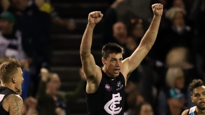 Matthew Kreuzer seals memorable AFL win for Carlton over Port Adelaide