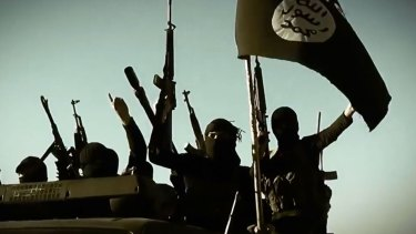 Image from an Islamic State video.