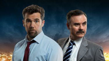 Patrick Brammall and Darren Gilshenan  have no script to work from: everything is ad libbed.