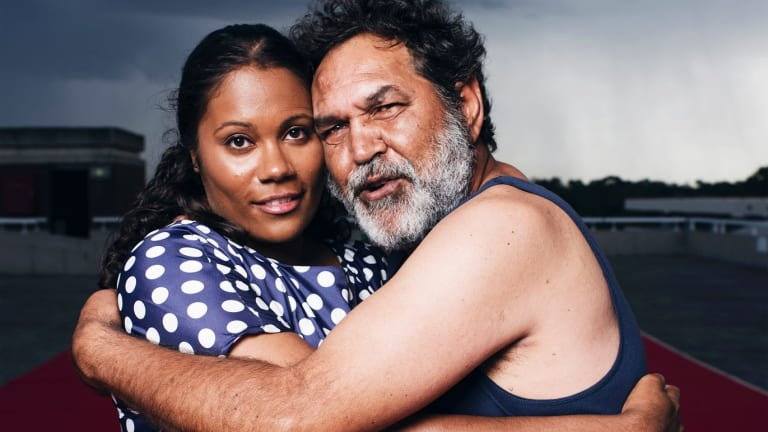 Shakira Clanton and Billy McPherson in <i>Home Country</i>.