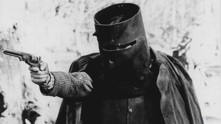 John Jarratt as Ned Kelly in <i>The Last Outlaw</i>.