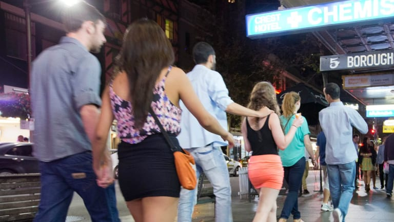 Drop: Assaults at Kings Cross licensed premises have decreased dramatically in the past year.