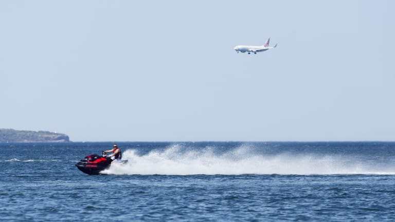 A man has died after his jet ski reportedly collided with another.