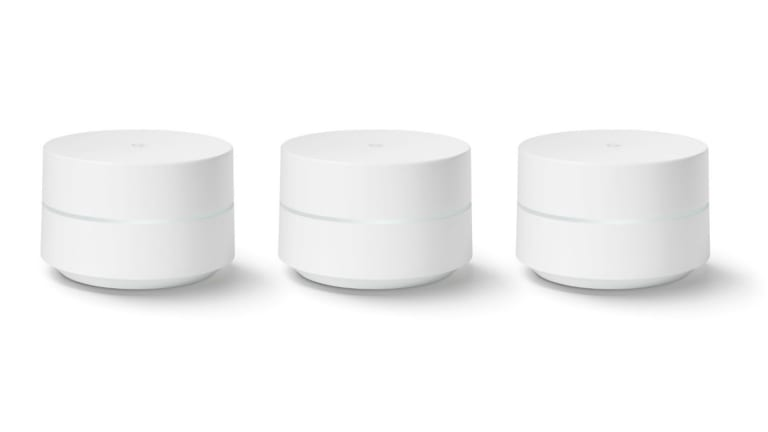 The Google WiFi hubs work together to cover your entire home.