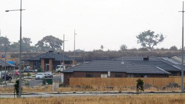 A new housing estate on Harvest Home Road in Wollert.