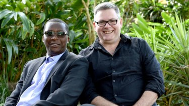 Co-authors and friends, James Roy and Noel Zihabamwe.