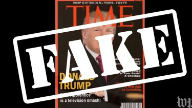 Like many mock covers, the Time cover sporting Donald Trump has many clues that fail a reality check.