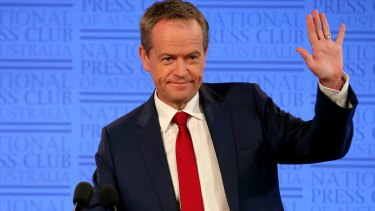 Opposition Leader Bill Shorten addressed the National Press Club of Australia in Canberra on Tuesday.