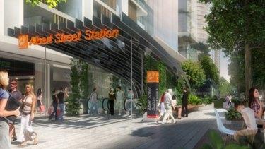 A Cross River Rail station will be built at Albert Street.